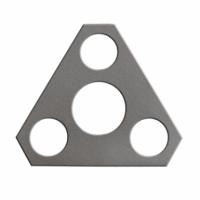 Placa Triangular 85806016  Eixo Dianteiro New Holland